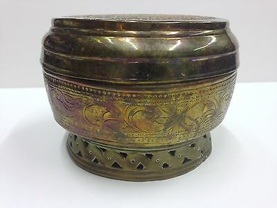 Middle Eastern Persian Islamic Arabic Centerpiece Covered Serving copper BOWL