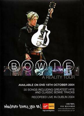 DAVID BOWIE - Full Page Magazine Advert RARE - A Reality Tour 2004