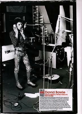 David Bowie - Full Page Picture - Magazine Photo Cutting RARE - Mick Rock