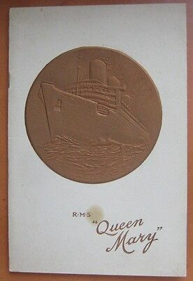 QUEEN MARY 1937 Absolutely SUPERB EMBOSSED COVERS