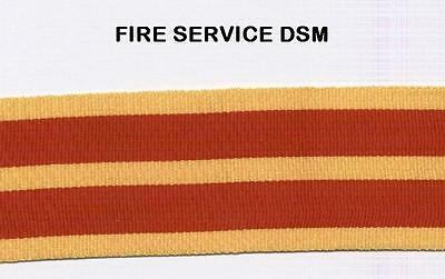 """12"""" of Full Size Medal Ribbon for the FIRE SERVICE DISTINGUISHED SERVICE Medal"""