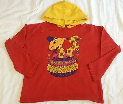 Kids st michael hoodied jumper - age 11 years - retro - vintage - red - snake