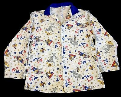 vintage tom and jerry pyjama top - shirt - robe - st michael - 7 to 8 years