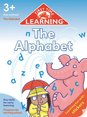Pre-School Book to Learn The Alphabet Letters Educational Children 3 4 5 Writing