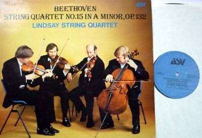 Beethoven String Quartet No 15 LP, Lindsay String Quartet, ASV ACA 1015