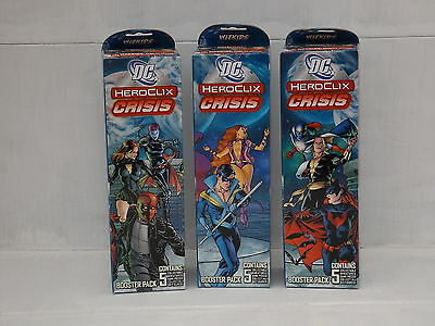 HeroClix DC Crisis 5 Figure Booster Pack x3 Extremely Rare