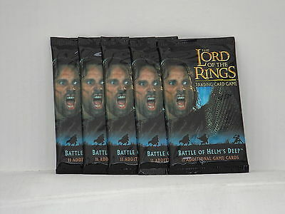 Lord of the Rings TCG Battle for Helm's Deep  Booster x5  *New & Sealed*
