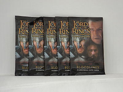 Lord of the Rings TCG Bloodlines  Booster x5  *New & Sealed*