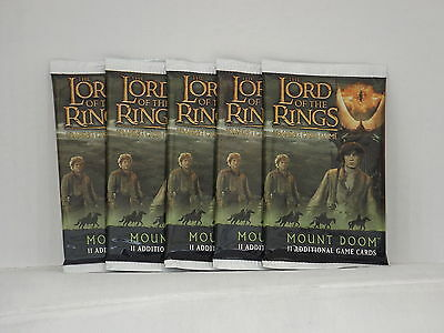 Lord of the Rings TCG Mount Doom  Booster x5  *New & Sealed*