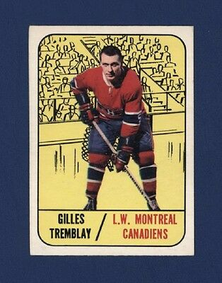 1967-68 Topps GILLES TREMBLAY #5 EX+ Montreal Canadiens !!