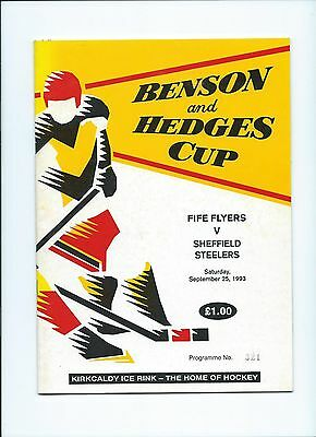 93/94 Fife Flyers v Sheffield Steelers B and H Cup
