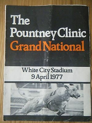 1977 White City Greyhound Grand National Racecard