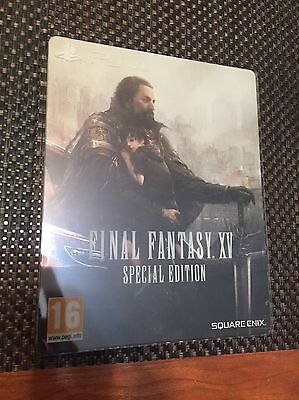 Final Fantasy XV Special Edition Steelbook G2 Limited Edition PS4 NO GAME Rare