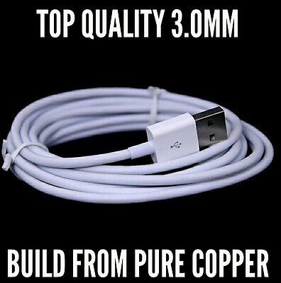 Lot:20/10 FT OD 3.0MM Usb Data Charger Lightning Cable Cord for iPhone 5/6/6s/7