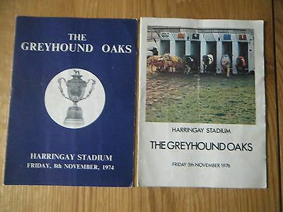 2 x  HARRINGAY GREYHOUND OAKS FINAL RACECARD - 1974 & 1976