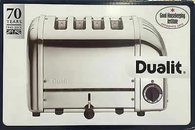 DUALIT 4 Slice/Slot Classic Vario AWS Toaster 40378 Polished Stainless Steel NEW