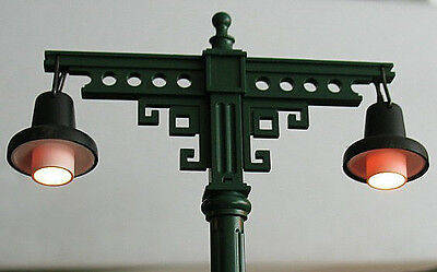 LGB Double-Arm Station/Railway/Street light with twin lamps (Bahnhofslampe) x 4