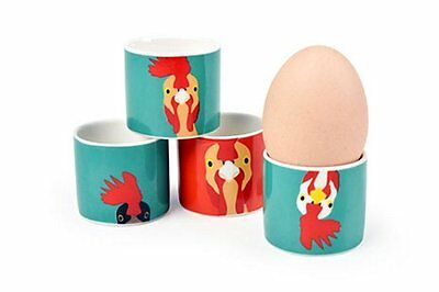 Burgon & Ball Creaturewares Plucky Chicken Egg Cups Set of 4 Animal Lovers GIFT