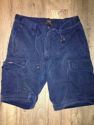 Navy Blue Abercrombie & Fitch Cargo Shorts