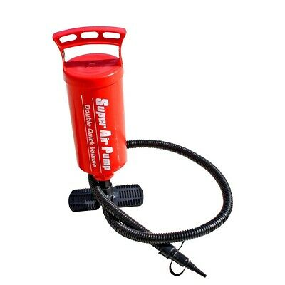 Double Action Hand Pump Red 29cm Inflate Deflate Pool Toys Camping Mattress New