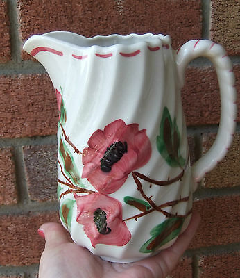 """Vtg Atq Blue Ridge China Southern Potteries Pitcher-Tralee Rose Hand Painted 6""""t"""