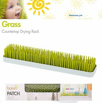 Boon Patch Countertop Bottle Drying Rack Slimline Grass Style Kitchen Accessory