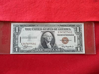 FR-2300  1935 A Series Hawaii WWII $1 Silver Certificate S-C Block *Choice UNC*