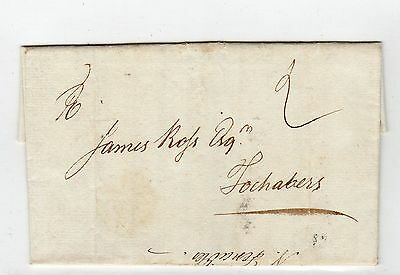 Scot - Aberdeenshire: 1780 Entire To Focabers With Aberdeen Mark (A450)