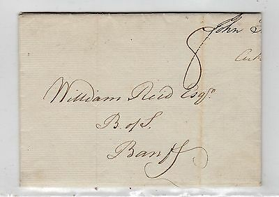 Scot - Morayshire: 1799 Entire To Banff With Elgin Mark (A455)
