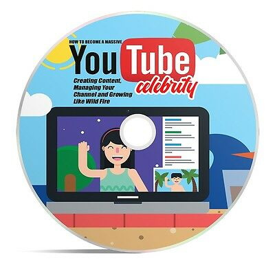 Become a Youtuber with Youtube Celebrity - eBook Plus Video Training on CD!