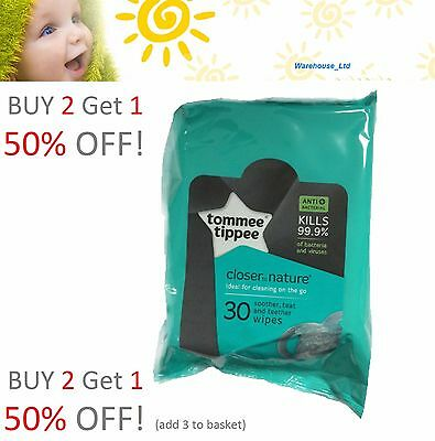 Tommee Tippee Closer to Nature Teat & Soother Wipes - 30 Wipes