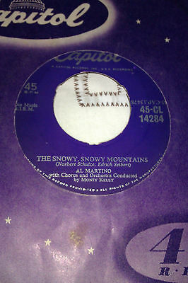 L@@k Al Martino The Snowy.snowy Mountains / Love Is Eternal Capitol Dinked Ex