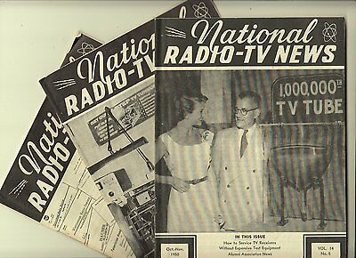 Vintage National RADIO TV News 1950 1953 1955 How To Service Manuals Television