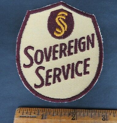 SOVEREIGN SERVICE 1950s Patch NOS New Old Stock GAS OIL SERVICE STATION
