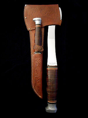 KABAR Hatchet Hunting Knife Combo Set/Axe -Old/Antique Collection - USA