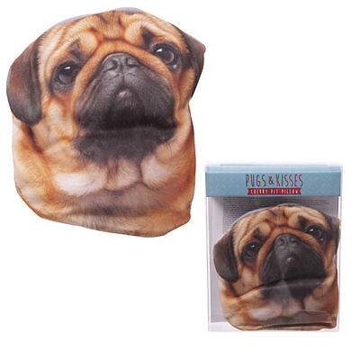Pugs & Kisses Cherry Pit Pillow - Cute Pug Dog Pillow Heat Up Microwave Puppy