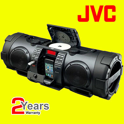 JVC RVNB75B Portable CD Boomblaster with Lightning Dock & Bluetooth - Black