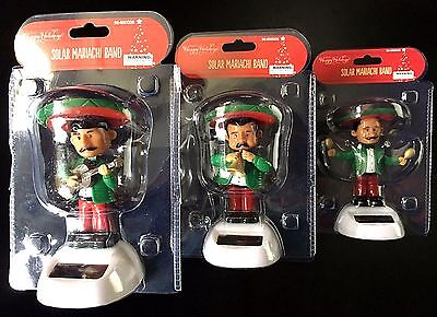 NEW Holiday MARIACHI BAND Trio Set - Solar Powered - FREE SHIPPING!