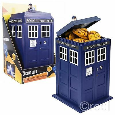New Doctor Who TARDIS Cookie Jar Biscuit Tin w/ Lights & Sounds Kitchen Official