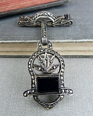Antique Germany Sterling Silver Watch Style Pin