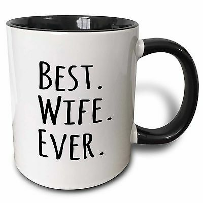 3dRose Best Wife Ever Fun Romantic Married Wedded Love Gifts for Her for Anni...