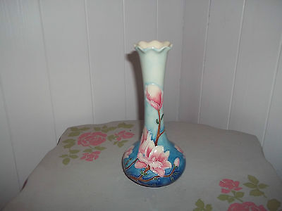 """Old Tupton Ware vase Magnolia Bloom 8"""" tall with box"""