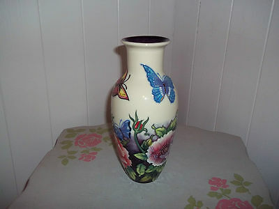"""Old Tupton Ware Butterfly Vase 9"""" tall with box"""