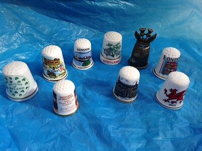 Collection of  Thimbles Collectables  X  9