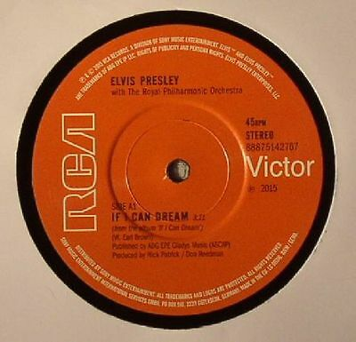 """PRESLEY, Elvis with THE ROYAL PHILHARMONIC ORCHESTRA - If I Can Dream - 7"""""""