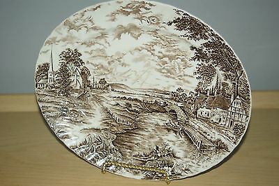 """RidgWay Staffordshire England Country days 12"""" Serving Tray Platter Oval Plate"""
