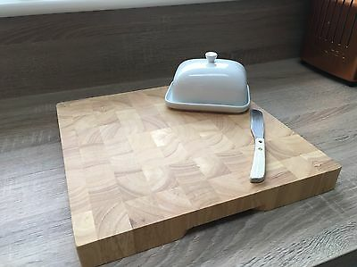 Thick Wooden Chopping Board Easy Clean Wood Quality Large Butchers Block 4CM