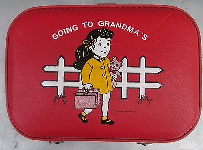 Going to Grandma's Vintage Travel Suitcase Trojan Luggage Company