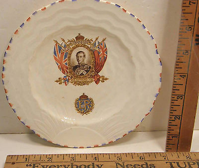 1937 Coronation Plate King Edward Viii Parrott & Co Burslem Pottery Duke Windsor