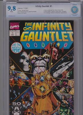 Infinity Gauntlet #1 CBCS 9.8 Highest Grade with White Pages.